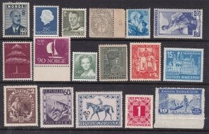EUROPE  ^^^^^^x17  better  MNH collection    good cat $$@dca1059euro
