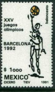 MEXICO 1686 Olympic Basketball - Barcelona Games MNH