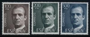 Spain 2268-70 MNH King Juan Carlos
