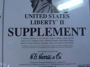 U.S.-HARRIS -LIBERTY II---2010 SUPPLEMENT--NEW IN PLASTIC