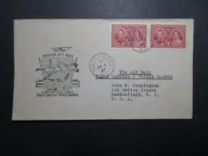 Canada 1937 Takla Landing to Prince George First Flight Cover - Z11199