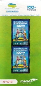 Costa Rica 100 Years Life Insurance Society of the National Magisterium MNH 2021