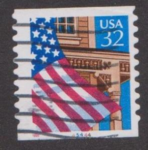 US #2915A Flag over Porch Used PNC Single plate #45444