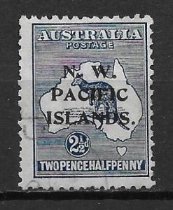 North West Pacific Islands 30 2 1/2d Roo single Used