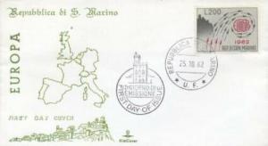 SAN MARINO SC#539 EUROPA 1962 FDC - KimCover