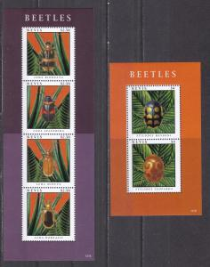 Nevis 2012 insects beetles 2 klb MNH