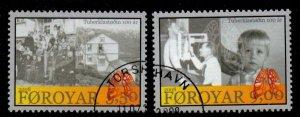 Faroe Islands Sc 497-98 2008 Holydar TB San stamp set used