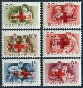 Hungary B211-B216,MNH.Michel 1482-1487. Hungarian Red Cross,1957.