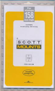 Prinz Scott Stamp Mount 158/265 CLEAR Background Pack of 10