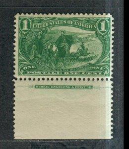 US Sc#285 M/NH/F-VF, Imprint Single. Cv. $75