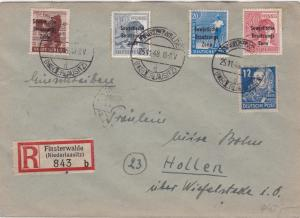 Germany Soviet Zone 1948 Finsterwalde to Hollen  stamps cover  R20720