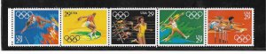 UNITED STATES, 2557A, MNH STRIP OF 5,OLYMPIC GAMES