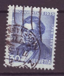 J17362 JLstamps 1935 switzerland hv of set used #b76 franscini