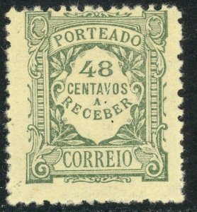 PORTUGAL 1921-27 48c Gray Green POSTAGE DUE Sc J39 MH