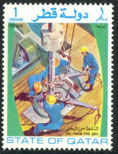 QATAR 1972 1d OIL FROM THE SEA Issue Sc 311 MNH