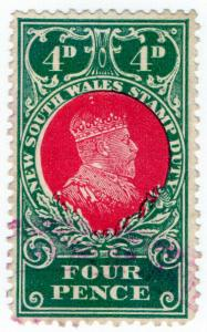 (I.B) Australia - NSW Revenue : Stamp Duty 4d (1914)