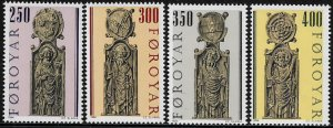 Faroe Is #102-5 MNH Set - Pew Gables