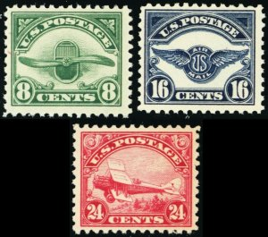 C4-C6, Mint VF NH Second Issue of 3 Airmail Stamps Fresh! * Stuart Katz