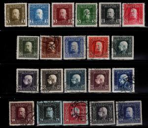Bosnia & Herzegovina Scott 65-85 Used Franz Josef 1912-1914 set of 21 CV $176.80