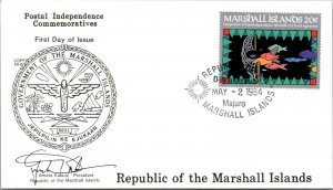 Marshall Islands Majuro 1984 FDC Postal Independence Commemorative