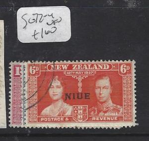 NIUE   (PP0310B)  ON NZ   KGV  CORONATION SG 72-4   VFU