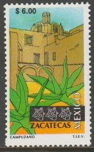 MEXICO 1977, $6.00 Tourism Zacatecas, colonial convent. Mint, Never Hinged F-VF.