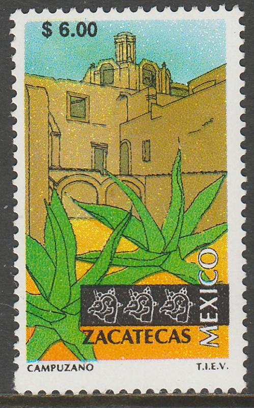 MEXICO 1977 $6.00 Tourism Zacatecas, colonial convent. Mint, Never Hinged F-VF.