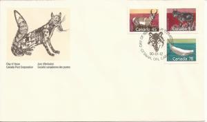 1990 Canada FDC Sc 1172,1175,1179 - Mammals