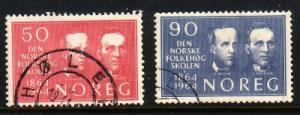 Norway Sc 459-0 1964 Folk High School stamps used