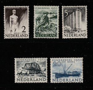 Netherlands x 5 of the 1950 Relief Fund set MH