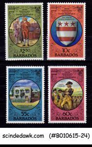 BARBADOS - 1982 250th ANNIVERSARY OF THE BIRTH OF GEORGE WASHINGTON 4V MNH