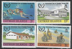 Cayman Islands  474-7  MNH  Year of Disabled