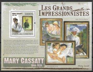 Comoro Islands MNH S/S Mary Cassatt Paintings 2009