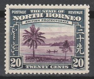 NORTH BORNEO 1939 PICTORIAL 20C