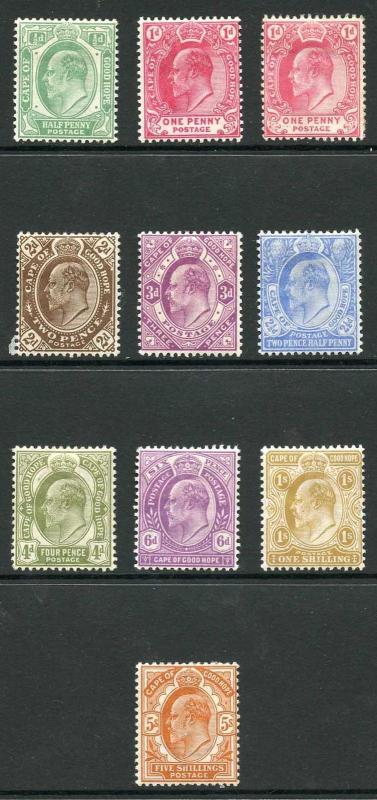 Cape of Good Hope SG70/78 KEVII set m/mint