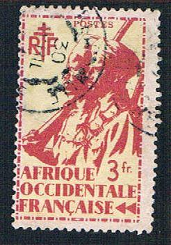 French West Africa 29 Used Colonial Soldier (BP1025)