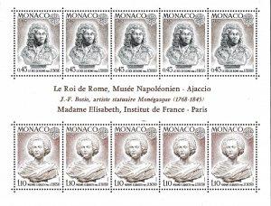 Monaco 1974 Europa Sheet Scott 904a Post Office Fresh (**)  ART Topical VF/NH