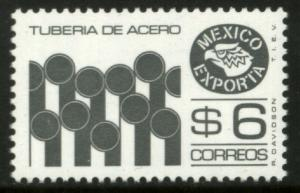 MEXICO Exporta 1121C, $6P Pipes Perf. 11 1/2 Fluor Paper 8. MINT, NH. F-VF.