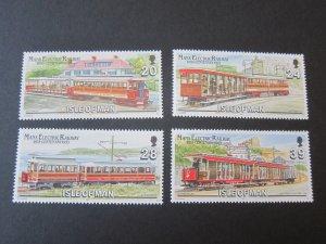 Isle Of Man 1993 Sc 554-7 Train set MNH