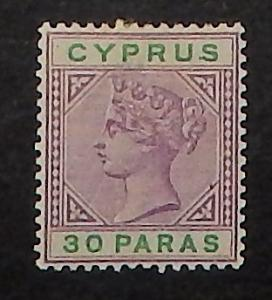 Cyprus 29. 1894 30pa Violet and green QV