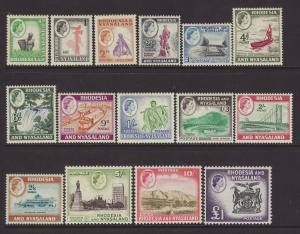 1959 Rhodesia & Nyasaland Set Mounted Mint SG18/31