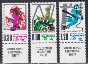 Israel # 555-557, Occupational Safety NH Tab Set