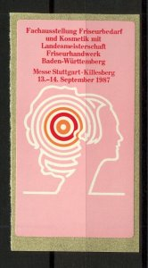 Germany 1987 Stuttgart Hairdressing and Cosmetics Exhibition Label