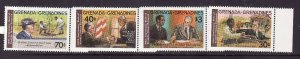 Grenada Grenadines-Sc#499-502-unused NH set-USA President Roosevelt-1982-