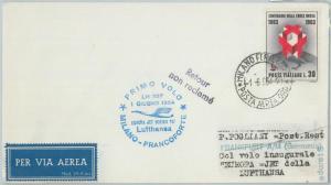 72119 - ITALY - Postal History - FIRST FLIGHT:  Milan - Frankfurt 1964 Lufthansa