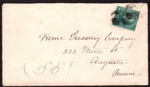 $US Registered Cover, Augusta Maine, Sc#273