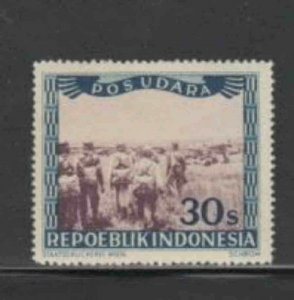 INDONESIA #C21 1949 30s SERVICING PLANE MINT VF NH O.G