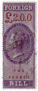 (I.B) QV Revenue : Foreign Bill £2 (1857)