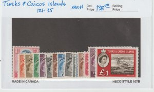 Turks & Caicos 121-35 VF MNH