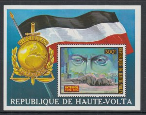 Burkina Faso C170 Interpol Souvenir Sheet MNH VF